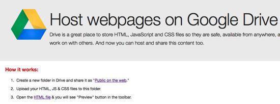 Googledrive htmlhosting