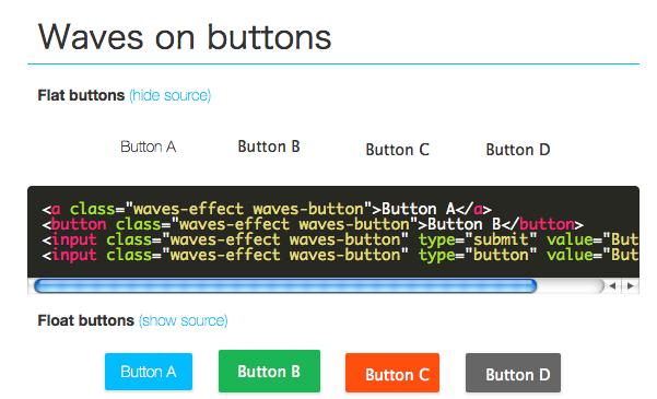 [js] クリックするとぼわーーんとエフェクトする「Waves」