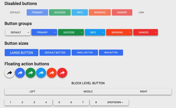 [CSS] Bootstrapで使えるボタンなどの素材集Material Design
