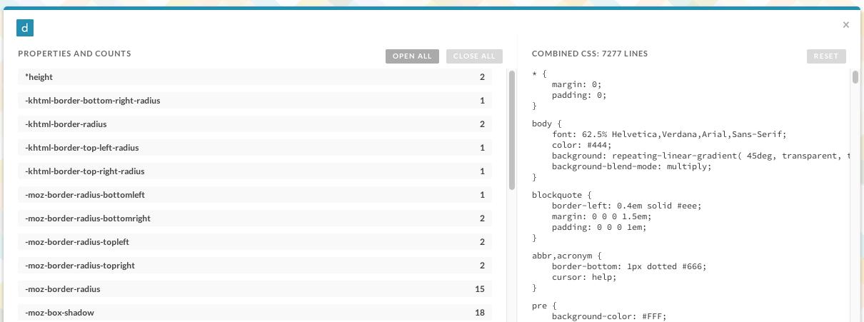 [CSS] サイトに使用されているCSSを属性別に羅列するChrome拡張「CSS Dig」